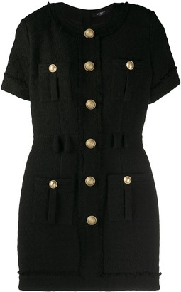 Balmain Button Fitted Dress