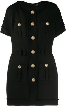 Balmain Button Fitted Dress