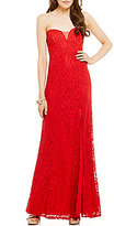 Sequin Hearts Sweetheart Glitter Lace Long Dress