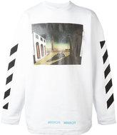 Off-White striped sleeves sweatshirt - men - Cotton - S