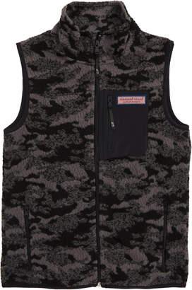 Vineyard Vines Camo Jacquard Full Zip Fleece Vest