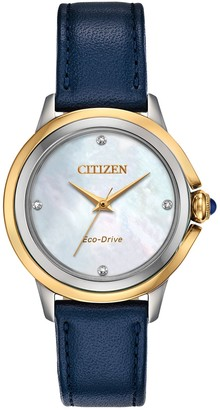Citizen Eco-Drive Women's Ceci Diamond Accent Blue Watch