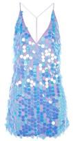 Motel **Finn Deep V-Neck Sequin Slip Dress