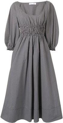 Proenza Schouler White Label Yarn Dye Plaid Full Sleeve Dress