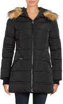GUESS Faux Fur-Trimmed Quilted Puffer Jacket