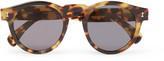 Illesteva - Leonard Round-frame Tortoiseshell Acetate Sunglasses