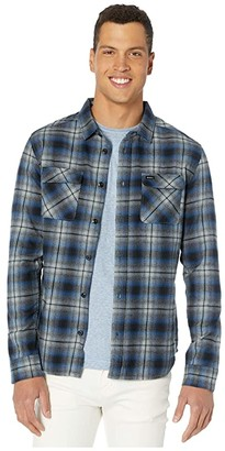 RVCA Hostile Flannel Long Sleeve (Blue) Men's Clothing