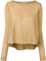 Antonio Berardi metallic jumper - women - Polyester/Rayon - 40