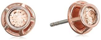 Fossil Iconic Glitz Rose Gold-Tone Stud Earrings