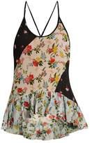 Preen Line Rene floral-print crepe cami top