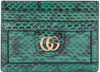 Gucci Snakeskin Ophidia Card Holder