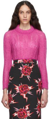 Prada Pink Mohair Oversized Sweater