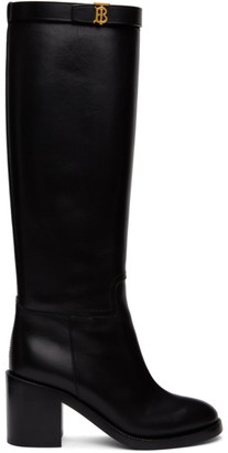 Burberry Black Monogram Redgrave Boots