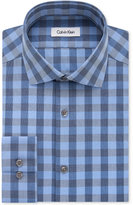 Calvin Klein STEEL Men's Non-Iron Slim-Fit Performance Blue Frost Check Dress Shirt