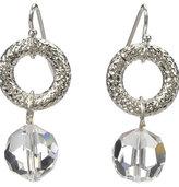 Designs Crystal Donut Ring Earrings