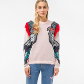 Paul Smith Women's Pink 'Cockatoo' Intarsia Sweater With Shoulder Detail