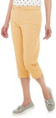 Croft & Barrow Petites' Classic Chino Capri Pants