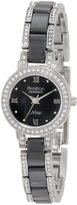 Swarovski Armitron NOW Women's 753919BKSV Crystal Accented Silver-Tone and Ceramic Watch