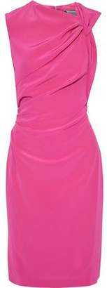 Lanvin Gathered Cutout Crepe De Chine Dress