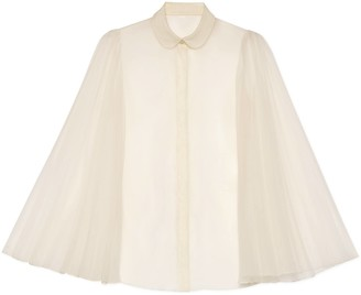 Gucci Silk organdy shirt with pleated sleeves