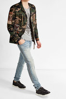 Valentino Camouflage Jacket with Patches