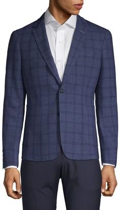 Nhp Extra Slim-Fit Windowpane Plaid Notch Jacket
