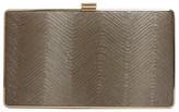 Sondra Roberts Metallic Wave Box Clutch
