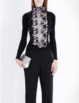 Giambattista Valli Floral-lace wool jumper