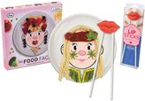 Fred & Friends Ms. Food Face Dinner Plate and Chopsticks