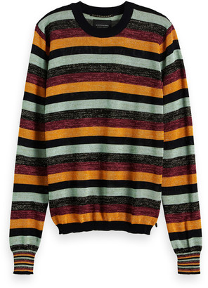 Scotch & Soda Viscose Striped Fitted Pullover - viscose | xs