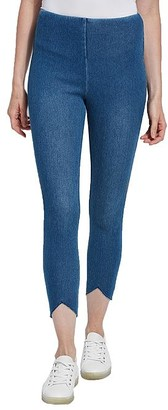 Lysse Medium Control Lynette Scallop Denim Leggings
