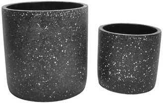 Moe's Home Collection Kasvaa Planter, Set Of 2, Black