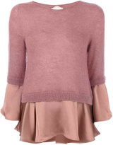 Semi-Couture Semicouture frilled hem sweater