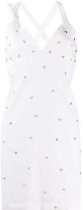 Frankie Morello Star Stud Denim Dress