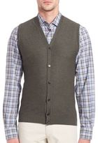 Saks Fifth Avenue Collection Merino Wool & Silk Sweater Vest