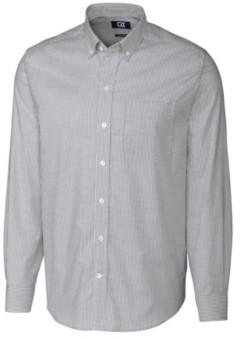 Cutter & Buck Men's Big & Tall Long Sleeves Stretch Oxford Stripe Shirt