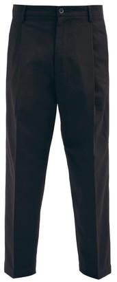 Barena Tartana Cropped Cotton-twill Trousers - Black
