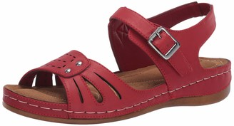 Easy Street Shoes Rosalyn Comfort Sandal Red
