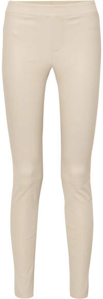 Helmut Lang Leather Skinny Pants - Off-white