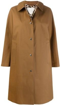 MACKINTOSH FAIRLIE Brown x Leopard Bonded Cotton Coat   LR-079
