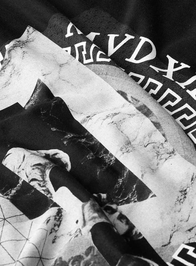 Topman Black Angel Longer Length T-Shirt