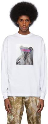 Palm Angels White Bear Long Sleeve T-Shirt
