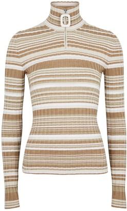 J.W.Anderson Brown Striped Wool Jumper