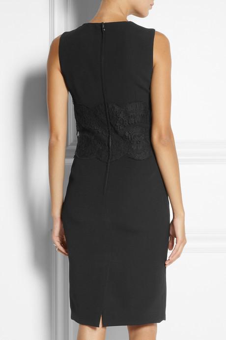 Dolce & Gabbana Lace-paneled cady dress