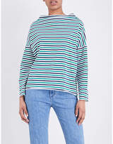 MiH Jeans Striped cotton-jersey top