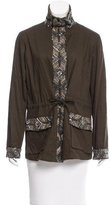 Haute Hippie Lightweight Embellished Safari Jacket w/ Tags