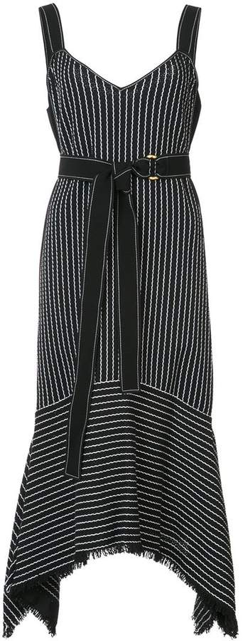Derek Lam 10 Crosby V-Neck Cami Dress With Tie Belt