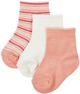Kickee Pants Sock Set (Baby/Toddler) - Natural/Forest Stripe/Blush - 2T-4T - 0-6 Months