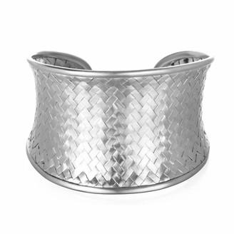 Satya Jewelry Silver Medium Woven Cuff