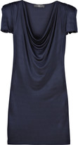 McQ Strong-shouldered satin-jersey dress